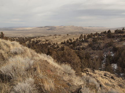 View east from Stinkingwater Pass, Harney County